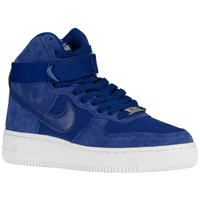Nike Air Force 1 High - Boys' Grade School - Blue / White