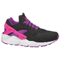 Nike Huarache Run - Girls' Grade School - Black / Orange