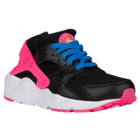 Nike Huarache Run - Girls' Grade School - Black / Pink
