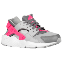 Nike Huarache Run - Girls' Grade School - Grey / White