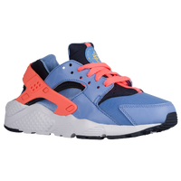 Nike Huarache Run - Girls' Grade School - Light Blue / Orange