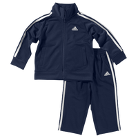 adidas Tricot Set - Boys' Infant - Navy / White