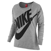 Nike Signal Loose L/S T-shirt - Women's - Grey / Black