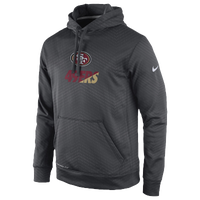 Nike NFL KO Sideline Performance Hoodie - Men's - San Francisco 49ers - Grey / Maroon