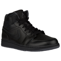 Jordan AJ1 Mid - Men's - Black / Grey