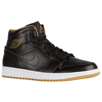 Jordan AJ1 Mid - Men's - Black / Gold