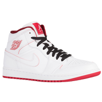 Jordan AJ1 Mid - Men's - White / Red
