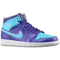 Jordan AJ1 Mid - Men's - Purple / Light Blue