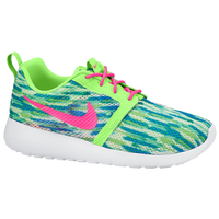 Nike Roshe Run Flight Weight - Girls' Grade School - White / Light Green