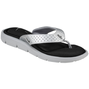 Nike Comfort Thong - Women's - Metallic Silver/Black