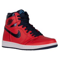 Jordan Retro 1 High OG - Men's - Red / Navy