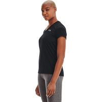 Under Armour Tech V-Neck - Women's - All Black / Black