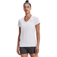 Under Armour Tech V-Neck - Women's - All White / White