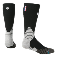 Stance NBA On Court Solid Crew Socks - NBA League Gear - Black / Grey