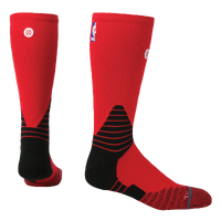 Stance NBA On Court Solid Crew Socks - NBA League Gear - Red / Black