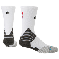 Stance NBA On Court Solid Crew Socks - NBA League Gear - White / Grey