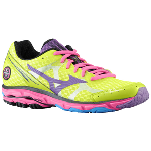 Mizuno Wave Rider 17 - Women's - Lime Punch/Pansy/Electric