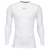 Under Armour Coldgear Armour Compression Crew - Men's - White / Grey