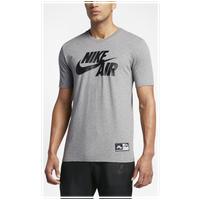 Nike Air Logo T Shirt Men's Grey Black