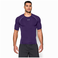 Under Armour Heatgear Armour Compression S/S Shirt - Men's - Purple / Grey