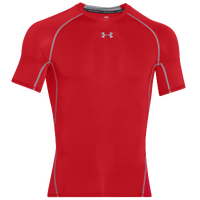 Under Armour Heatgear Armour Comp S/S T-Shirt - Men's - Red / Grey