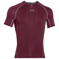 Under Armour Heatgear Armour Compression S/S Shirt - Men's - Maroon / Grey