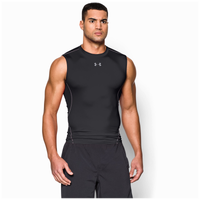 Under Armour Heatgear Armour Comp S/L T-Shirt - Men's - Black / Grey