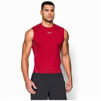 Under Armour Heatgear Armour Comp S/L T-Shirt - Men's - Red / Grey