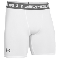 Under Armour Heatgear Armour Compression Shorts - Men's - White / Grey