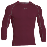 Under Armour Heatgear Armour Comp L/S T-Shirt - Men's - Maroon / Grey
