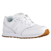 New Balance 574 - Boys' Grade School - White / Tan