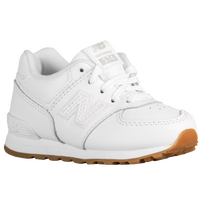 New Balance 574 - Boys' Toddler - White / Tan