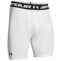Under Armour Heatgear Sonic Compression Shorts - Men's - White / Black