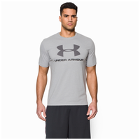 Under Armour Charged Cotton Sportstyle Logo T-Shirt - Men's - Grey / Black