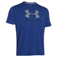 Under Armour Charged Cotton Sportstyle Logo T-Shirt - Men's - Blue / Grey