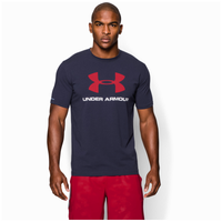 Under Armour Charged Cotton Sportstyle Logo T-Shirt - Men's - Navy / White