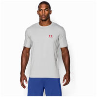 Under Armour Sportstyle Left Chest Logo T-Shirt - Men's - Grey / Red