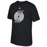 adidas NBA Prime Logo T-Shirt - Men's - Portland Trail Blazers - Black / White