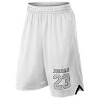 Jordan Rise 4 Shorts - Men's - White / Black