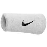 Nike Swoosh Doublewide Wristbands - Men's - White / Black