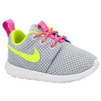 Nike Roshe Run - Girls' Toddler - Grey / Pink