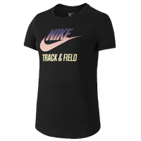 Nike RU W T&F Gradient T-Shirt - Women's - Black / Pink
