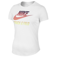 Nike RU W T&F Gradient T-Shirt - Women's - White / Orange