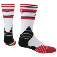 Stance NBA On Court Crew Socks - Men's - Chicago Bulls - White / Black