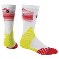 Stance NBA On Court Crew Socks - Men's - Atlanta Hawks - White / Light Green
