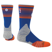 Stance NBA On Court Crew Socks - Men's - New York Knicks - Blue / Orange