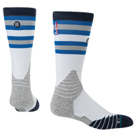 Stance NBA On Court Crew Socks - Men's - Dallas Mavericks - White / Light Blue