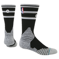 Stance NBA On Court Crew Socks - Men's - San Antonio Spurs - Black / Grey