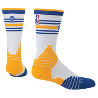 Stance NBA On Court Crew Socks - Men's - Golden State Warriors - White / Gold