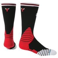 Stance NBA On Court Crew Socks - Men's - Chicago Bulls - Black / Red